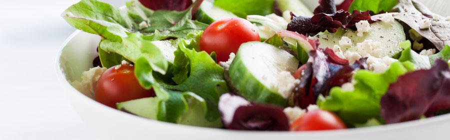Lunch salade met geroosterde sojanootjes eiwitdieet Proday