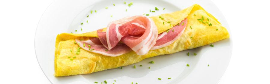 Omelet met baconsmaak eiwitdieet Proday