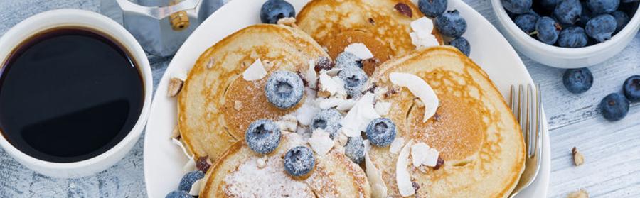 Pannenkoeken met blauwe bessen